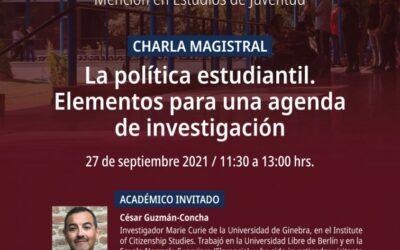 Charla magistral Doctorado en Ciencias Sociales «La política estudiantil. Elementos para una agenda de investigación»