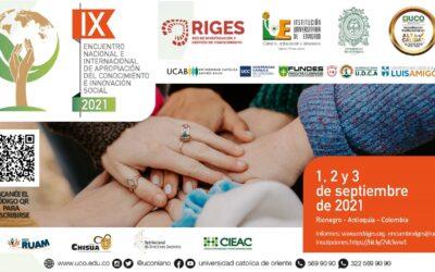 Investigador CITSE participa en el IX Encuentro Internacional de Gestión de Conocimiento e Investigación RIGES 2021: Apropiación de Conocimiento e Innovación Social